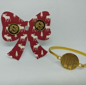 Jewelry - Monogram / Sorority Earrings Bracelet Jewerly Set
